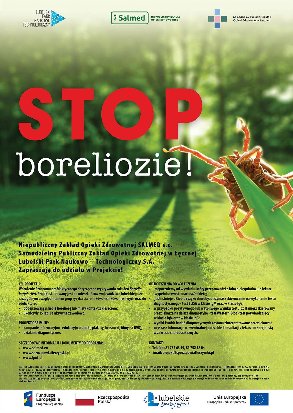"Plakat akcji ""Stop boreliozie"""